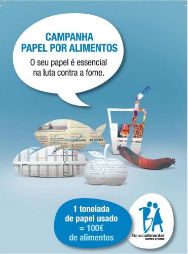 campanha papel por alimentos