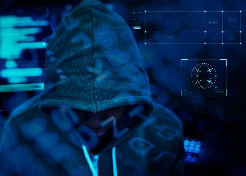 hacker working darkness rawpixel